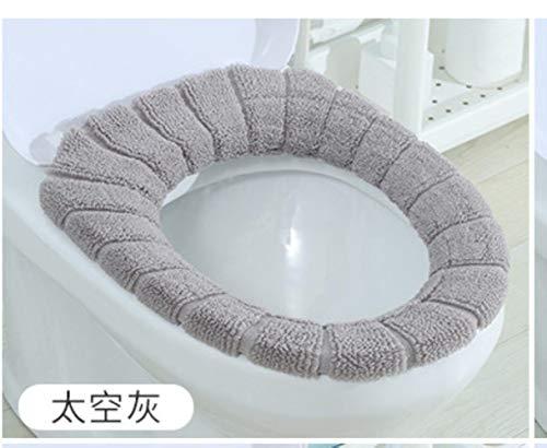 Toilet Seat Cover Comfortabele Breien Badkamer Wasbare Dichtheid Standaard Pompoen Patroon Zachte Kussen Toilet Cover Seat