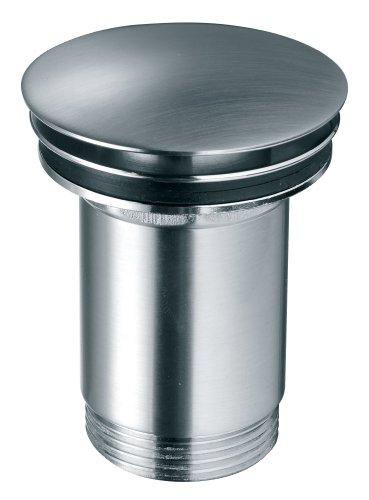 Ablaufgarnitur für den Waschtisch Pop Up Ventil Waschbecken Ablauf Edelstahl Optik