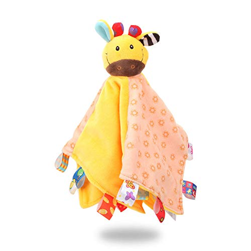 Baby Comforters Blanket Gift with Taggies Soft Plush Animal Giraffe, for Newborn Baby Girls Boys Best Gifts