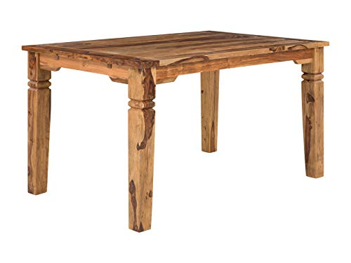 massivum Esstisch Texas 180x76x89 cm aus Massiv-Holz Palisander natur lackiert hell Sheesham