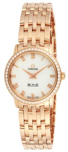 [オメガ] 腕時計 デ・ビル ホワイトパール文字盤 K19PG無垢ケース ダイヤ 413.55.27.60.05.002 並行輸入品
