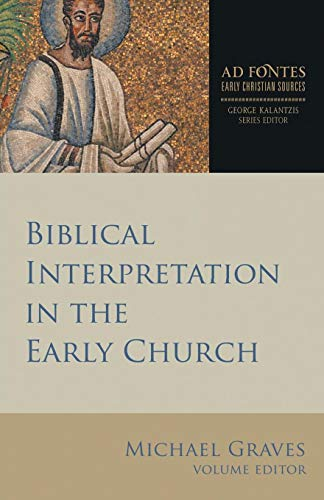 Price comparison product image Biblical Interpretation in the Early Church (Ad Fontes: Early Christian Sources)
