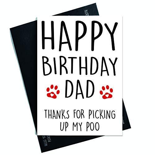 Grappige Gelukkige Verjaardagskaart Van De Hond, Kaart Voor Hem Huisdier Kaart Hond Lover Kaart Verjaardagskaart, Kaart Voor Hond Pap, Papa Kaart, Hond Papa Kaart PC285