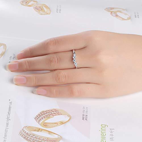 De nieuwe gave van echte, natuurlijke hemel blauwe steen ring zending van 925 sterling zilveren betrokkenheid trouwring stapel fijne juwelen