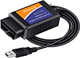 FORScan ELM327 OBD2 USB Adapter for Windows, Diagnostic Coding Tool with MS-CAN/HS-CAN Switch for Ford Lincoln Mazda Mercury Series Vehicles