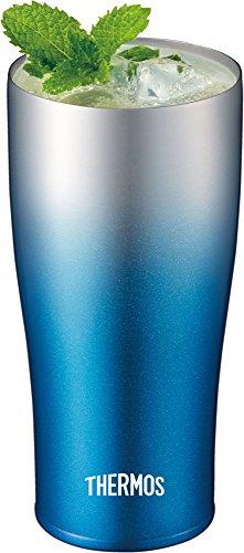 サーモス真空断熱タンブラー420mlスパークリングブルーJDE-420CSP-BL