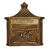 XYFJD Buzón de Pared Europea Villa Letter Box Comunidad Apartado de Correos de Puerta de Acero Grandes Buzones Buzones con Integrado Periódico Cuadro Titular del Anuncio 41x15.8x45.3cm (Color : C)