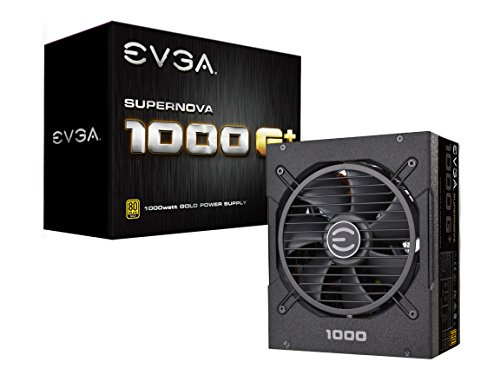 EVGA SuperNOVA 1000 G+, 80 Plus Gold 1000W, Fully Modular, FDB Fan, 10 Year Warranty, Includes Power ON Self Tester, Power Supply 120-GP-1000-X1