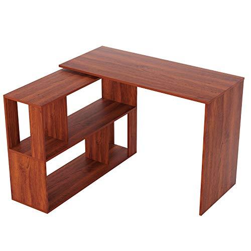 LEPAK Home Office Computer Desk with Storage Shelf Steel &...