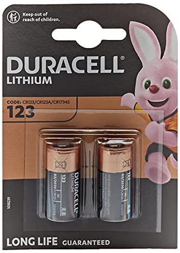Duracell CR123Batteria al Litio per foto ultra, confezione da 2 pile