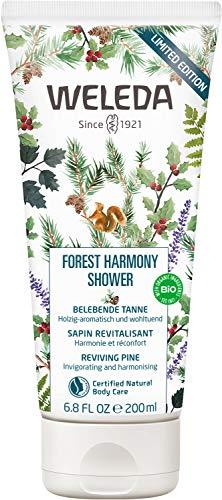 WELEDA Forest Harmony Shower, pflegende Naturkosmetik Duschcreme, Duschgel auf pflanzlicher Basis, Limited Edition Bodywash mit belebendem Waldduft (1 x 200ml)