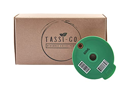 Cápsula de café rellenable adecuada para máquinas Tassimo (60 ml), reutilizable, sostenible