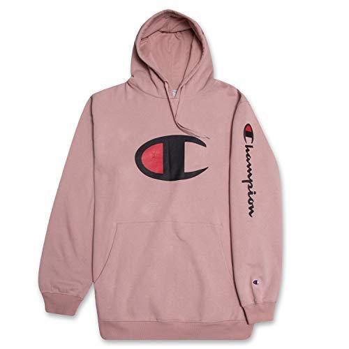 Champion Hoodie Men Big and Tall Hoodies for Men Pullover Sweatshirt Blush 2X