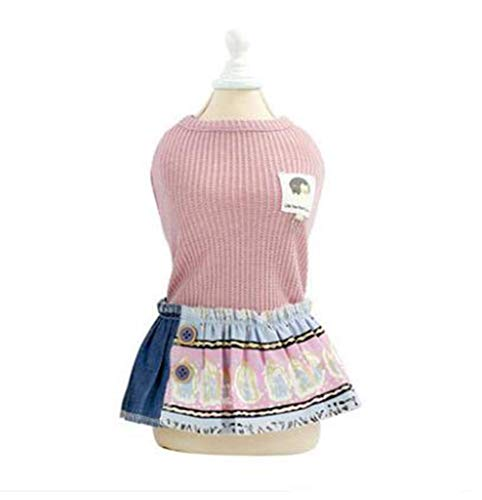 QIAO,PZSSXDZW/Dog Summer Skirt, Tutu/Princess Kleid, Hochzeitsparty Kleid (Pink/Blau) S/M/L/XL/XXL