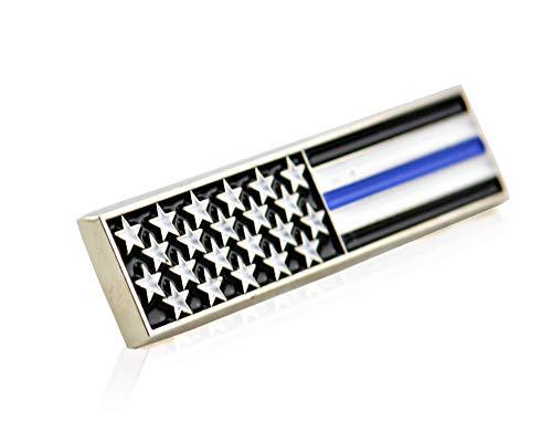 Thin Blue Line American Flag Bar Pin
