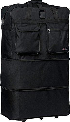 30'/36'/40'/ Rolling Wheeled SuitCase (36', Black)