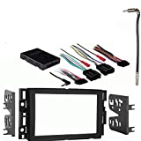Compatible with GMC Sierra 2007 2008 2009 2010 2011 2012 2013 Double DIN Aftermarket Stereo Harness Radio Install Dash Kit