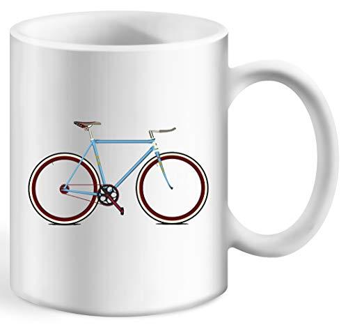 Fahrrad Kaffeebecher Weiß Tassen Becher White Ceramic Cup Mug