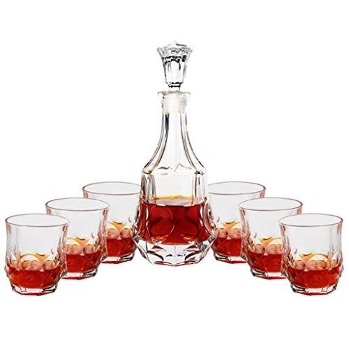 WZHREDWINE Europese Stijl Pak Whiskey Wijn Wekker Kristal Glas Wijnbeluchter Rode Wijn Separator 7 Stuk Set