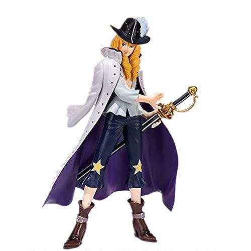 QIYHBVR One Piece GK Cavendish Caballo Blanco Caballero Príncipe Encantador Conjunto De Caja Modelo Kit Figura Figuras De Anime Muñeca De Juguete Decoración De Escritorio Altura17cm
