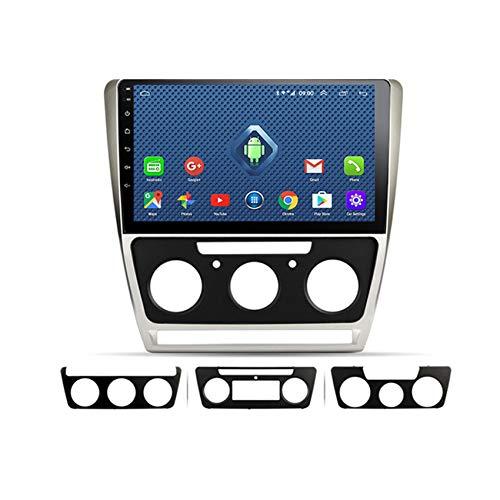 DMMASH Android 8 Car Stereo Navegación GPS Auto Radio para Skoda Octavia 2007-2014 2 DIN Pantalla Táctil de 10 Pulgadas, Soporte SWC Llamadas Manos Libres,4 Cores,WiFi:1 +16G