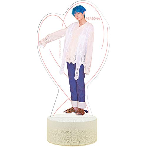 YUY BTS Night Light, Surrounding Bedroom Table Lamp, Colorful Rechargeable Led, Acrylic Usb Desktop Bedside Table Lamp