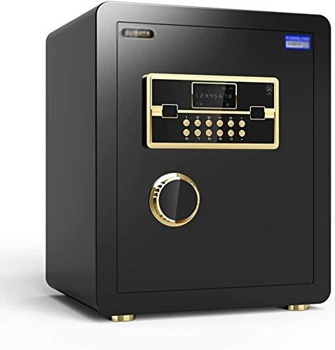 HDZWW Kabinett Safes Diversion Safes Wandtresore mit Medium Office Password Invisible Sicher Alarm Tresor (Color : Black, Size : 36 * 33 * 45cm)