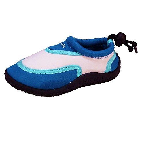 Magnus Kinder Clogs Hausschuhe (170A) Badeschuhe Badelatschen Pantoffel Pantoletten Schuhe Blau, Größe 26
