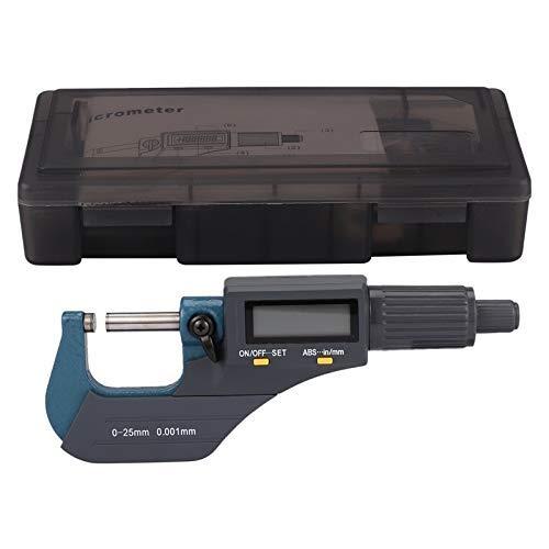 WANGIRL Elektronische Digitale Display Außendurchmesser Mikrometer 0-25mm Elektronische Zentimeter Karten-Spiralmikrometer (Farbe: grau) LOLDF1 (Color : Grey)