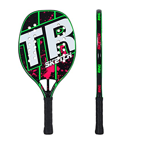 Top Ring Rachetta Beach Tennis Sketch Green/Magenta - 100% Fiberglass - Spessore 22 mm.