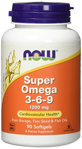 Super Omega 3-6-9 1200 mg - 90 Softgels by NOW