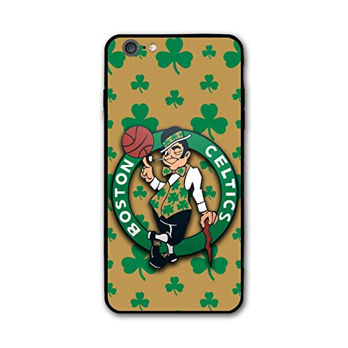 Customevader Phone Case for iPhone 7 iPhone 8, Ultra-Thin Printed Acrylic Rear Panel Shockproof Anti-Scratch, with Soft TPU Bumper Military Cover for iPhone 7/8 Only 4.7 inches (Celtics-Shamrock)