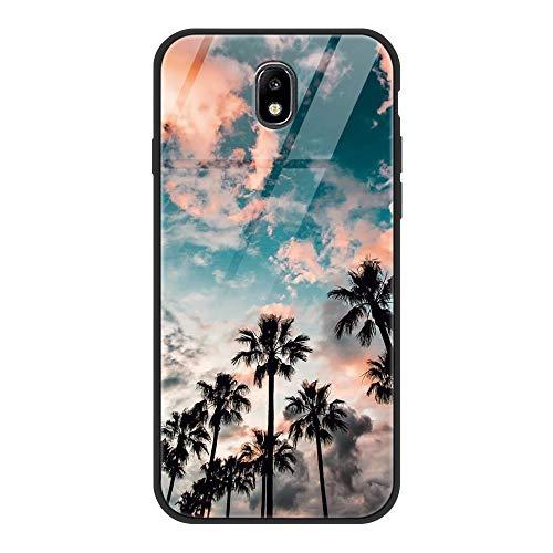 ZhuoFan Funda Samsung Galaxy J7 2017, Cárcasa Silicona 3D Cristal Templado con Dibujos Design Antigolpes de Protector Bumper Case Cover Piel Fundas para Movil Samsung GalaxyJ7, Coco