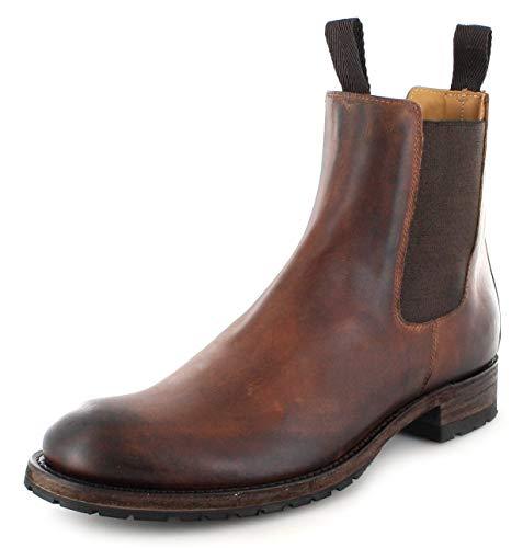 Sendra Boots Unisex Chelsea Boots 5595 Evo Tang Lederstiefelette Lederschuhe Braun 45 EU
