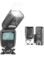 Neewer NW-561 GN38 Manual Pantalla LCD Speedlite Flash Kit para Canon Nikon y Otras Cámaras DSLR, Incluye: Flash NW561, Difusor Duro, CT-16 Disparador Inalámbrico