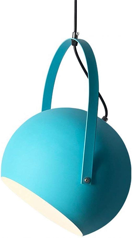 Yike-Lampe Personnalité Luminaire Lustre Moderne, Douille E27, en Aluminium, Convient pour Restaurant, Bar, café, Bleu, Taille  120 x 35 x 25 (cm)