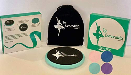 La Esmeralda Ballet Turning Board for Dancers ice Skaters Gymnasts etc Helps Improve Turns Balance Spotting Stability and Much More Made with Thick EVA Foam
