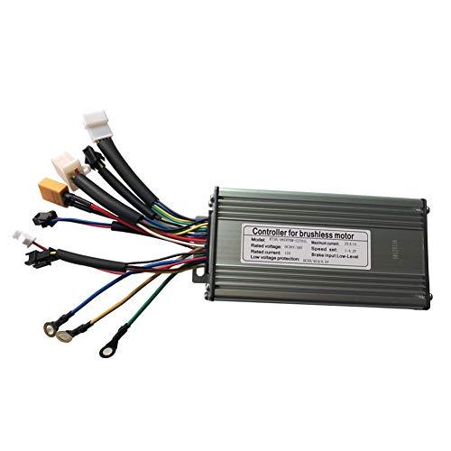LOLTRA E-Bike Controller Sine Wave/Dual Mode KT Controller for 36V/48V Electric Bicycle DC Hub Motor and KT Display(9 Mosfet, Sine Wave Controller)