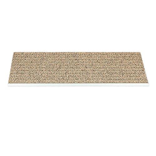 Kettelservice-Metzker Outdoor - Sicherheitsstufenmatte - Außenstufenmatte (Beige Sand mit Alu Kante) 1 Stück