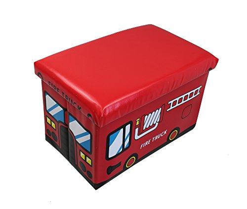 GMMH - Caja de almacenaje Plegable para Juguetes (Convertible en Taburete),...