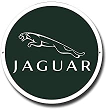 Jaguar Logo Calidad Redondo Letrero Metal