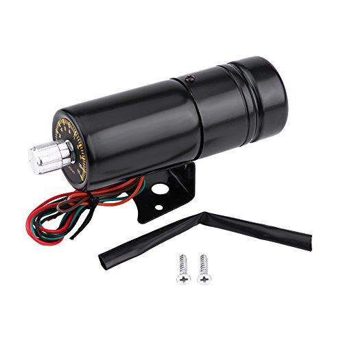 Suuonee 11000RPM Coche Moto Ajustable LED rojo Tacómetro Tacho Gauge Shift Light