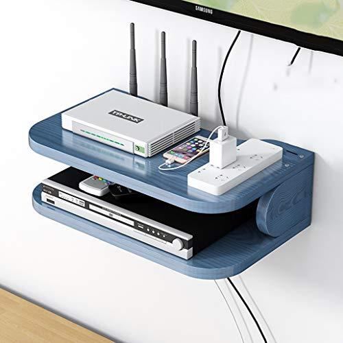 Solid Wood Montado en la pared TV Estante flotante Estante de pared Estante enrutador Conjunto de enrutadores TV TV Control remoto Reproductor de DVD Reproductor de proyector Almacenamiento TV Soporte