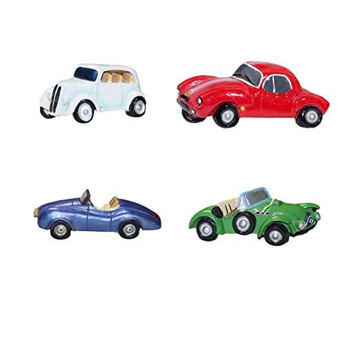 Imán de nevera de resina para coche, diseño retro de SHIFWE