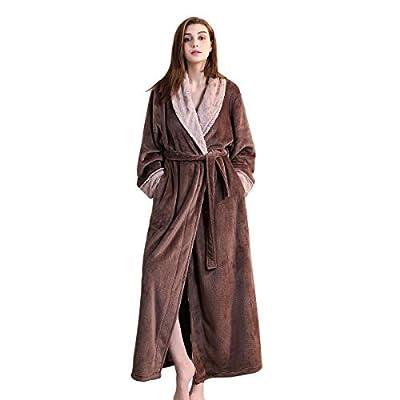 Bath Robe Long for Womens Plush Soft Warm Fleece Bathrobes Sleepwear Ladies Velvet Night Robes Dressing Gown Housecoat