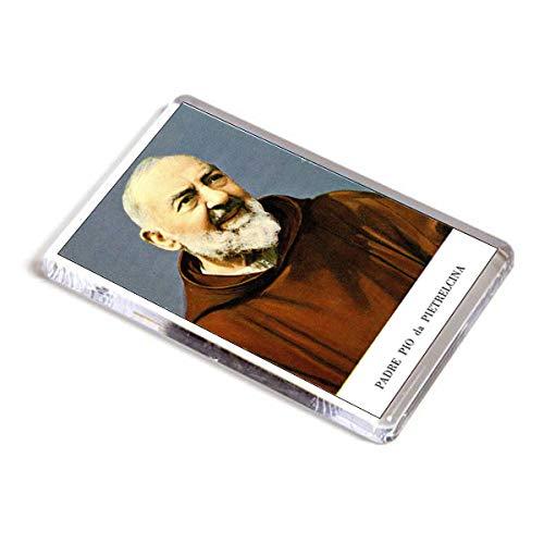 AWS Imán Santino (PVC rígido San Padre Pio de Pietrelcina Souvenir Fridge...