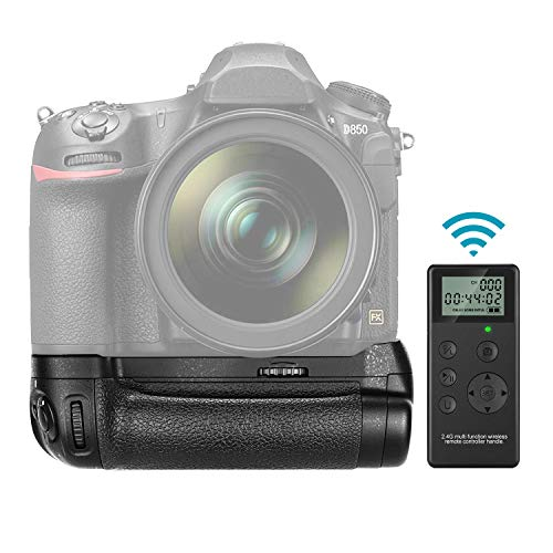Neewer NW-D850 Disparo Vertical Reemplazo de Empuñadura de Batería para MB-D18 con Control Remoto Inalámbrico de 2,4G Hz para Cámara Nikon D850 (Batería No Incluida)