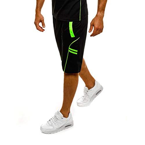 Sport Shorts für Herren, Männer Kurze Jogginghose Mit Taschen Trainingsshorts Schnell Trocknend Basketball Football Shorts L Dear-XiaoBao