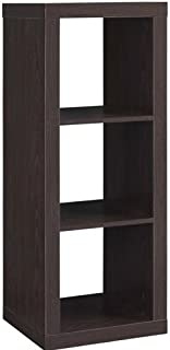 Better Homes and Gardens 3-Cube Organizer Storage Bookshelf, Espresso