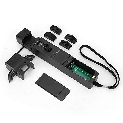 Lecxin Live-Glasfaser-Detektor, hochpräziser Glasfaser-Identifikator Live-Glasfaser-Detektor mit 4 Adaptern für Internetverbindungen